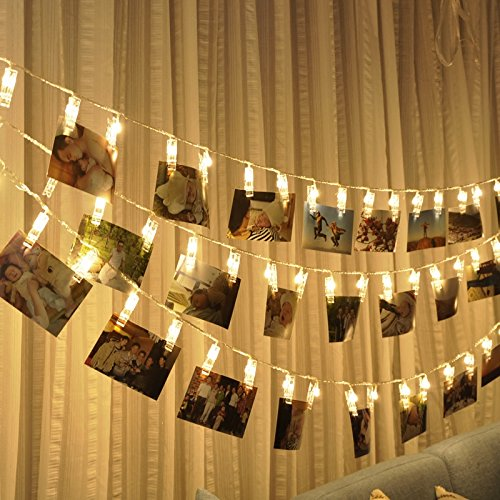 warmoor 20 photo clips string lights christmas