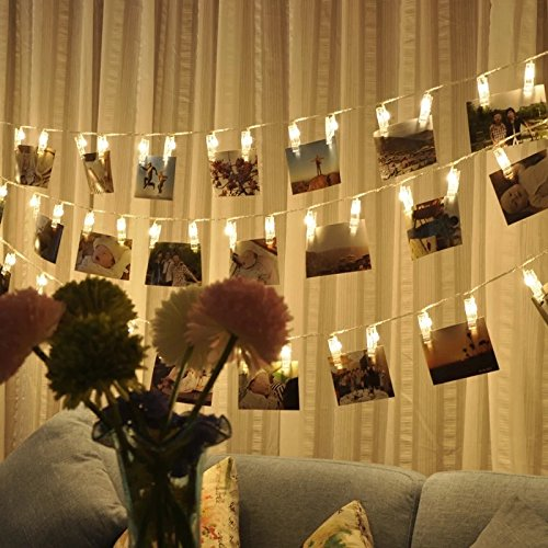 Warmoor 20 Photo Clips String Lights Christmas Lights 164 Feet