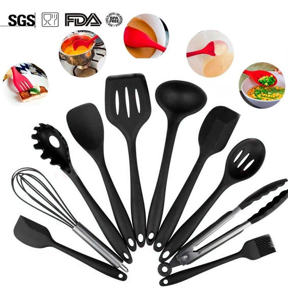 Black Silicone Kitchen Utensils