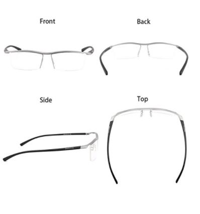 391aa9f307b0 Bertha Men Z Pure Titanium Semi-rimless Eyewear Business Prescription RX  Optical Glasses Frame 8189