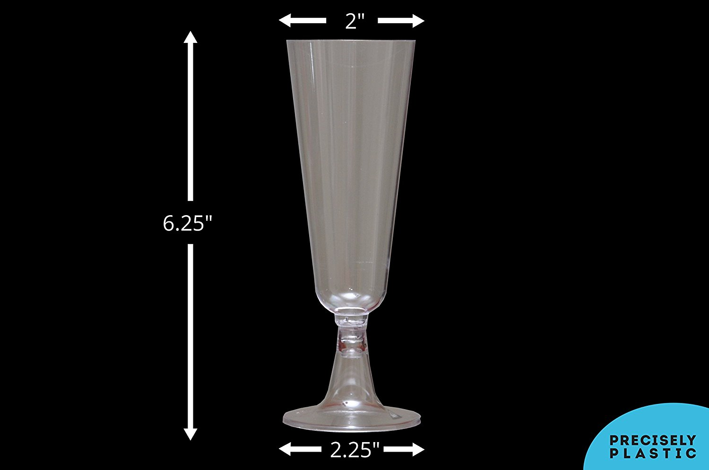 24e82b96645 Champagne Flutes Premium 5.5 oz Clear Hard Plastic Disposable Glasses ...