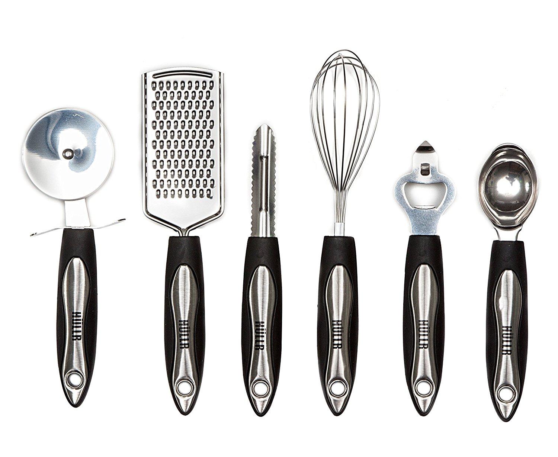 Hullr 25 piece kitchen utensils set all purpose kitchen for Kitchen set stainless