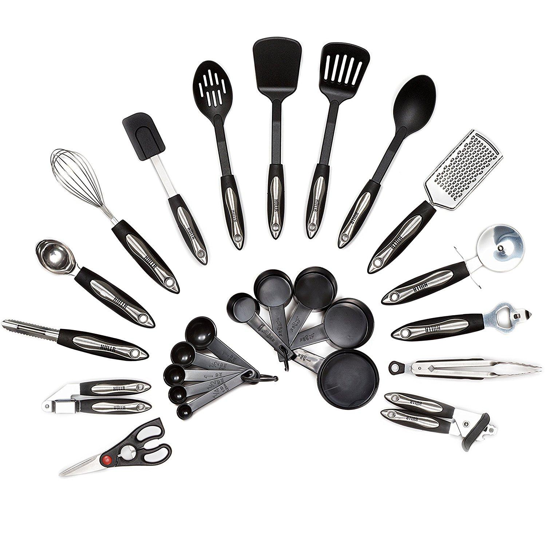 Hullr 25 piece kitchen utensils set all purpose kitchen for Kitchen cooking sets