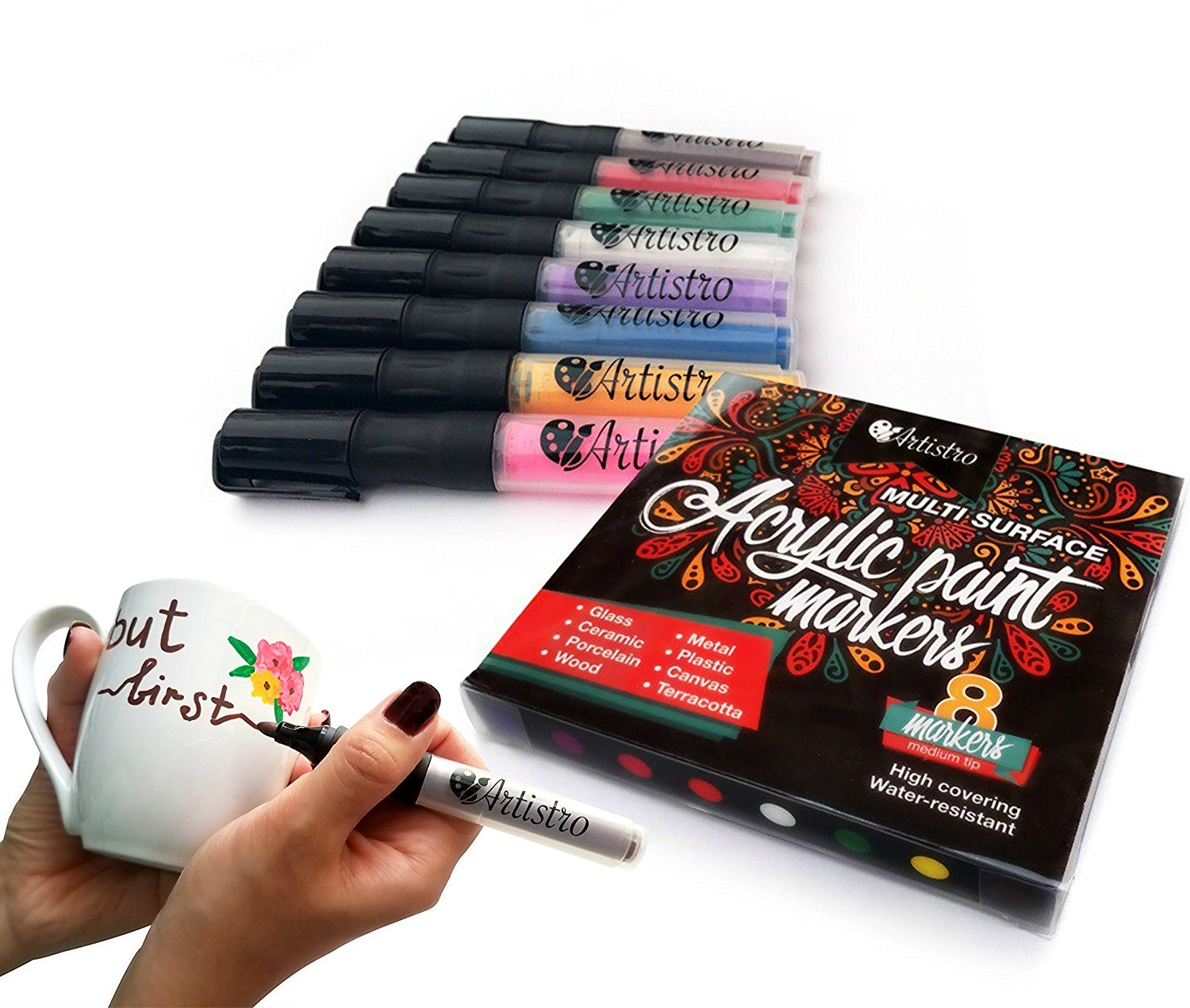 Permanent Paint Markers For Glass Painting Ceramic