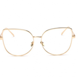 47c499d25e You re viewing  Pro Acme Oversized Cat Eye Gold Clear Lens Glasses Frame  Vintage Eyeglasses Women  21.99  16.99