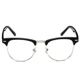 4570786964 You re viewing  Shiratori New Vintage Classic Half Frame Semi-Rimless  Wayfarer Clear Lens Glasses  14.99  9.99