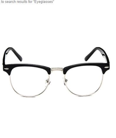 Shiratori New Vintage Classic Half Frame Semi-Rimless Wayfarer Clear ...