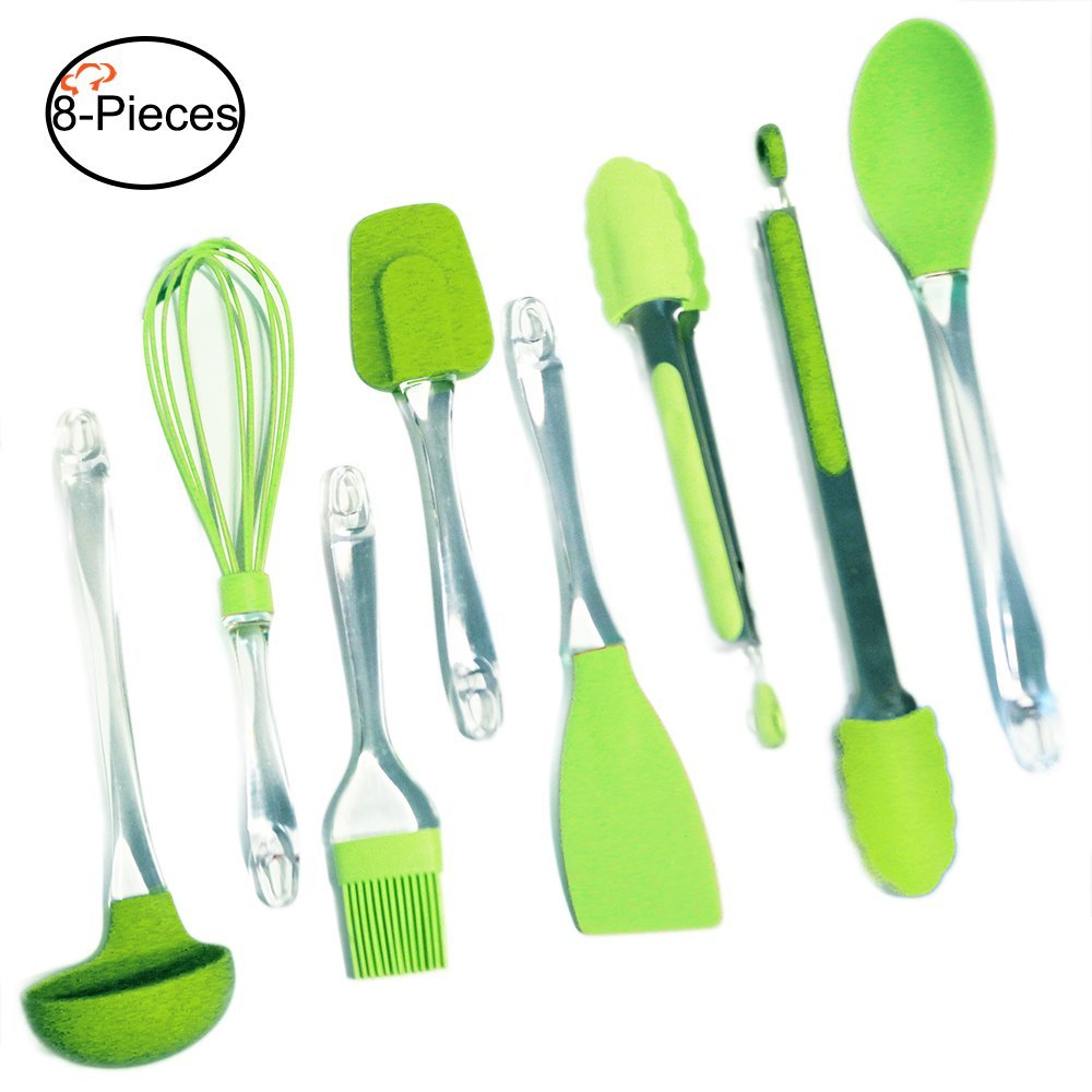 Tiger Chef Kitchen Gadgets, 8-Piece Lime Green, Color