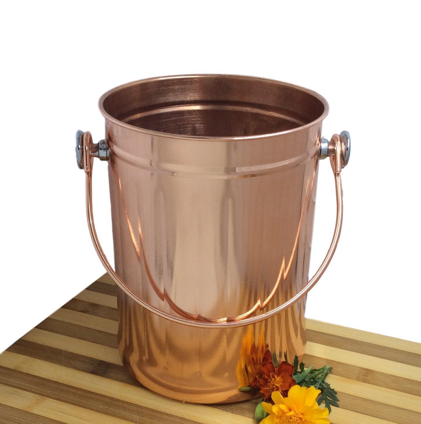 Copper Kitchen Utensils | Utensil Holder Caddy Crock To Organize Kitchen Tools Copper