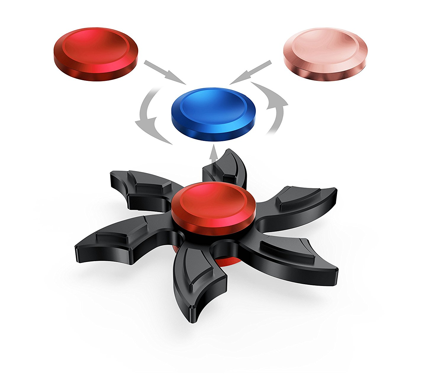 Fidget Toys For Adhd Students : Newest hands spinner enow pure metal high speed fidget