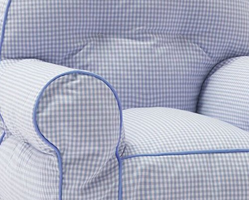 Big Joe Junior Chair Blue Gingham Party Supply Factory