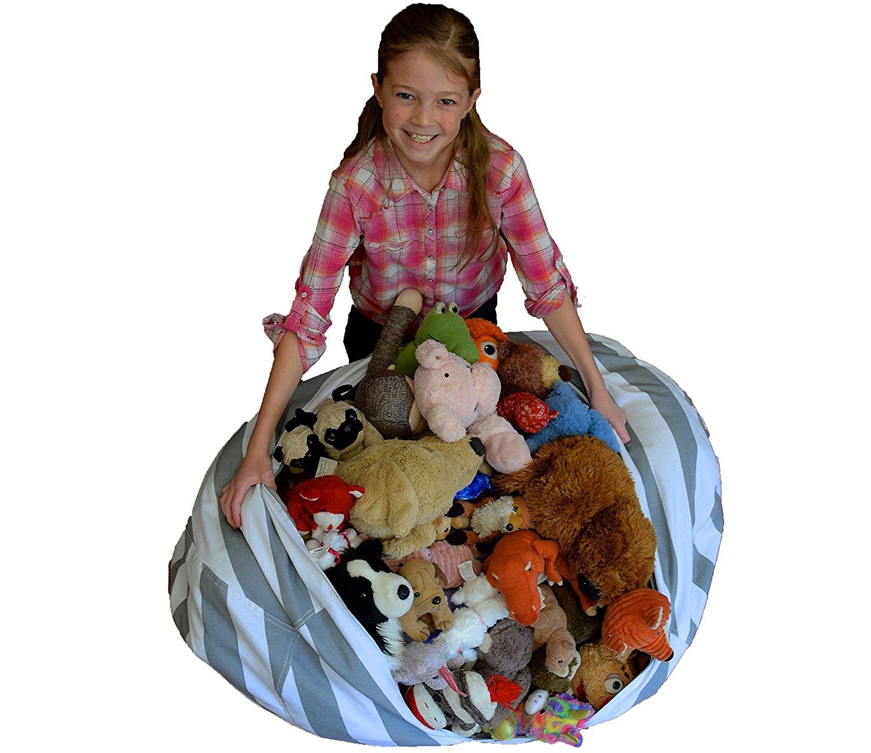 Extra Large Stuffed Animal Storage Bean Bag Chair Premium Cotton