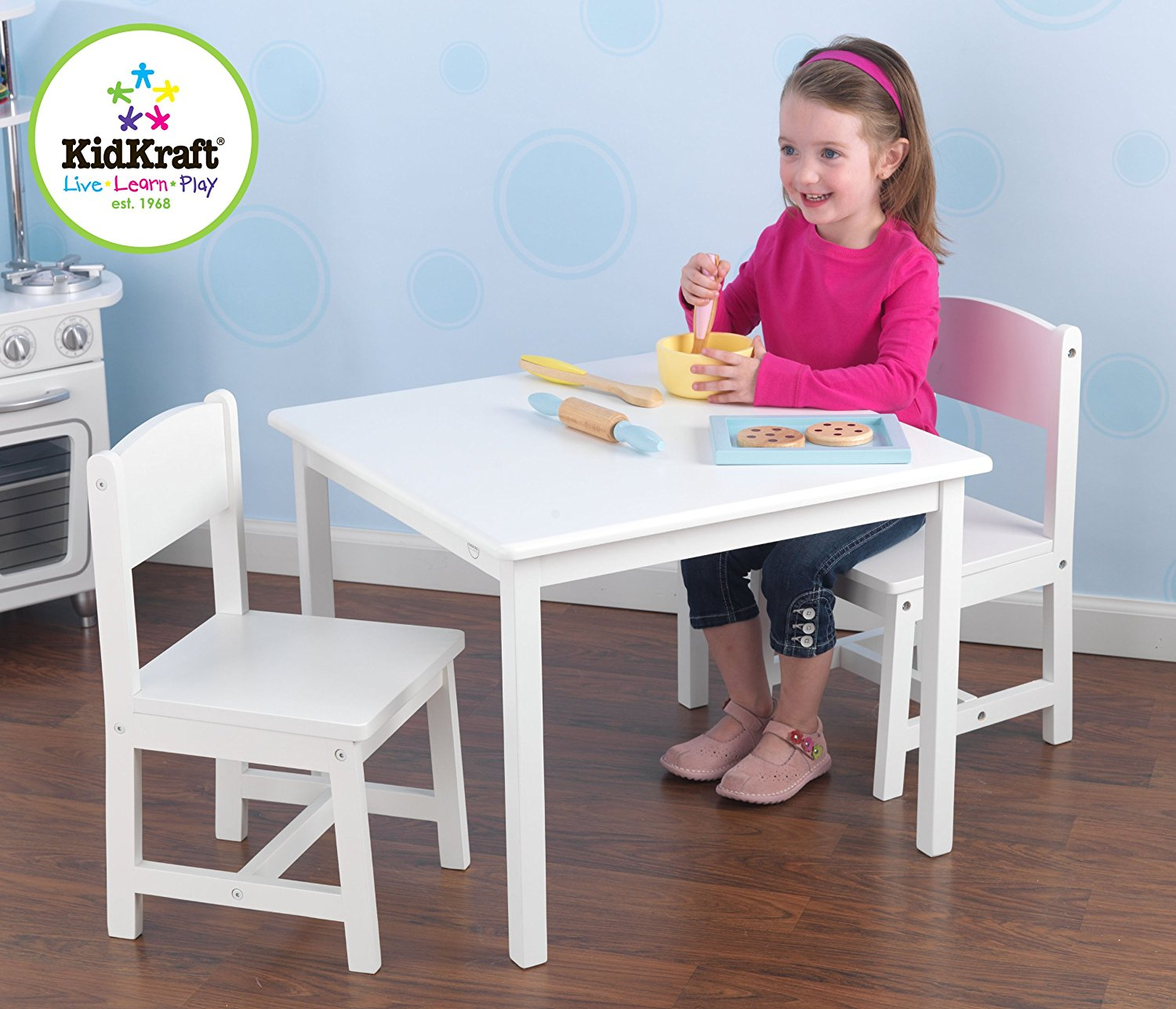 Kidkraft Aspen Table And Chair Set U2013 White