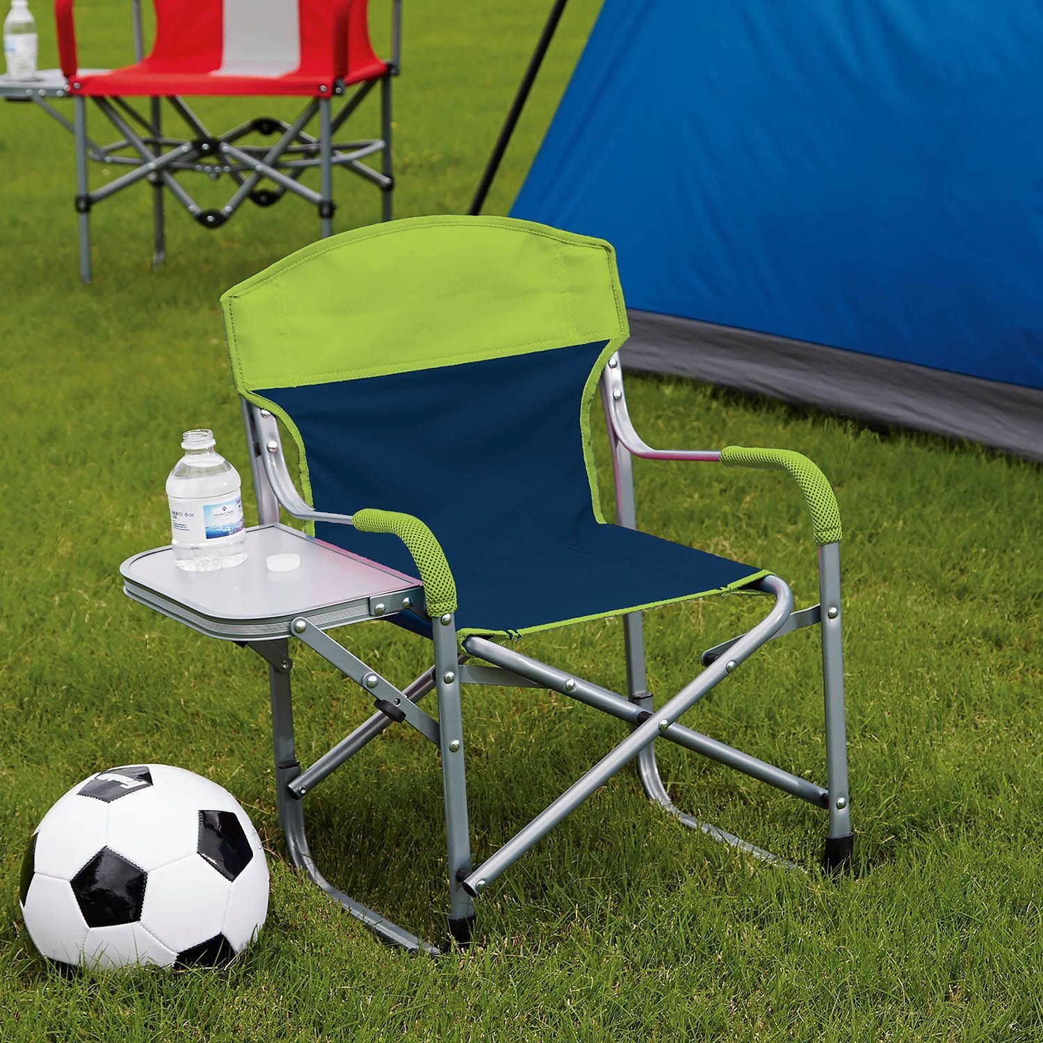 Kid s Directors Chair with Fold Away Side Table – Great for Sports