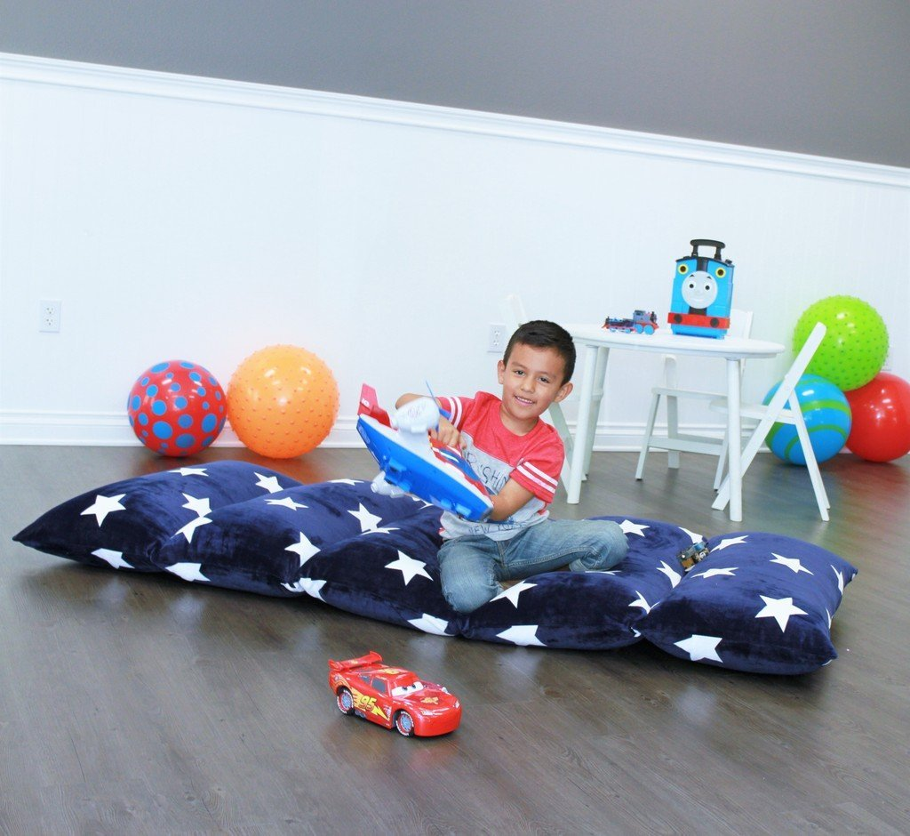 Kids Floor Pillow Fold Out Lounger Fabric Cover For Bed