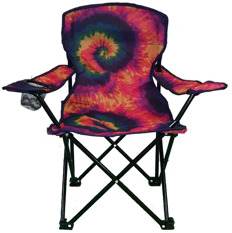 Lake Amp Trail Tie Dye Junior Kids Folding Chair Party