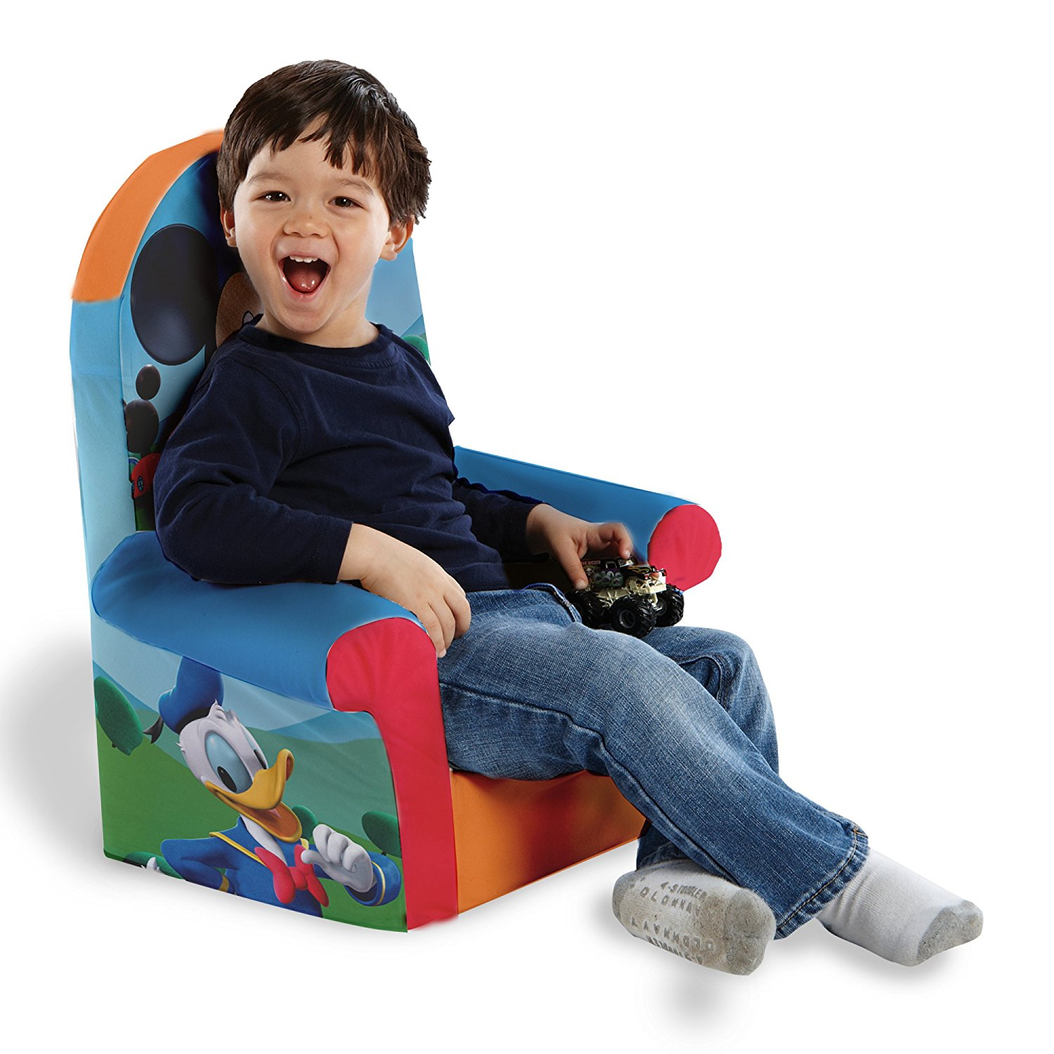Marshmallow Furniture Children's Foam High Back Chair