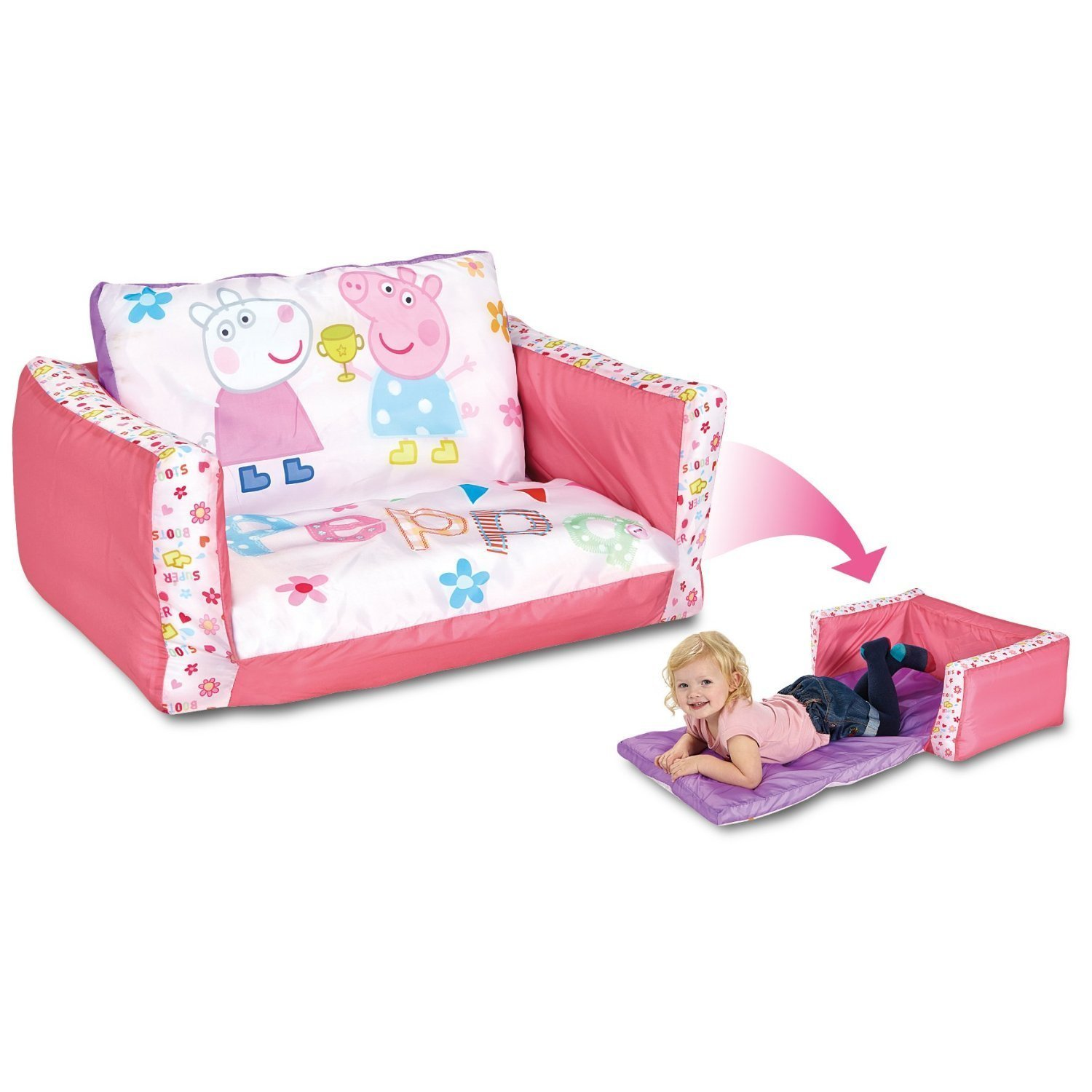 Peppa pig inflatable chair for kids with removable cover - Sofa cama infantiles ...