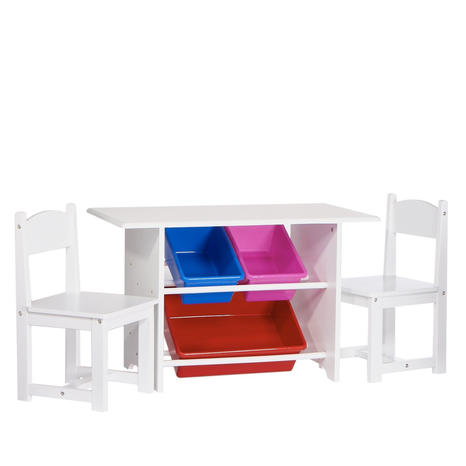 Exceptionnel RiverRidge Kids Table With 2 Chairs And 3 Plastic Storage Bins