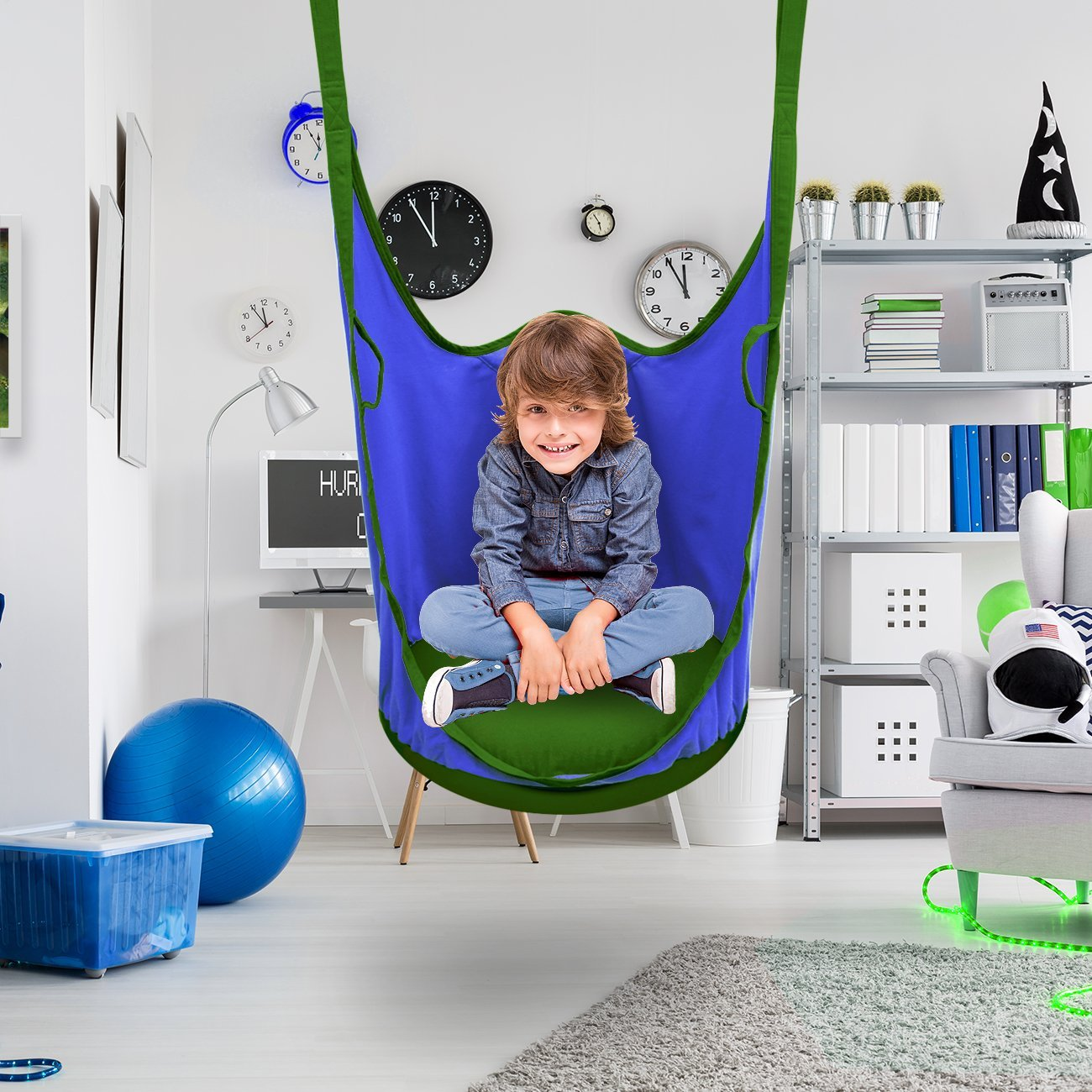 Sorbus Kids Pod Swing Chair Nook – Hanging Seat Hammock ...