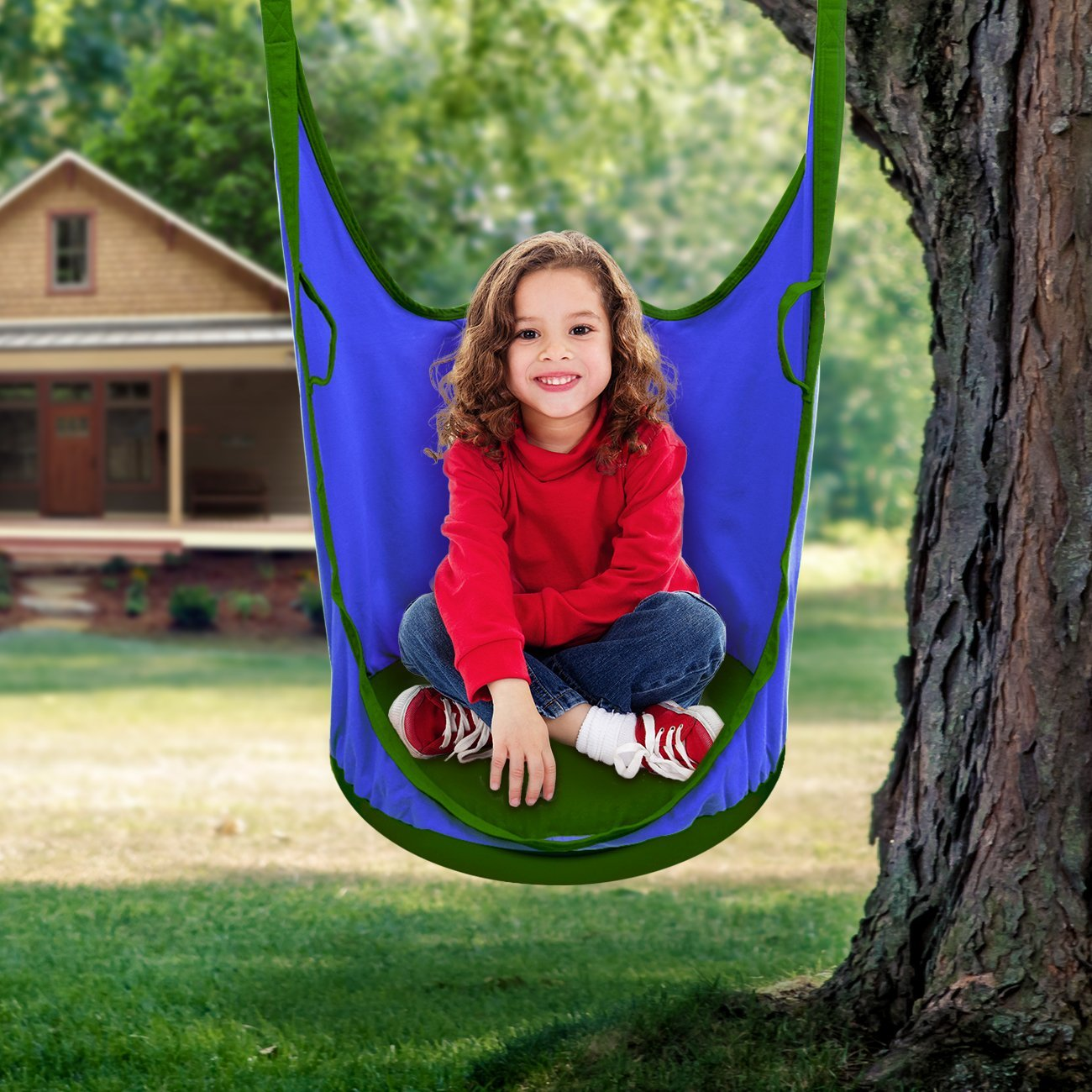 Sorbus Kids Pod Swing Chair Nook Hanging Seat Hammock